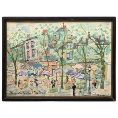 Paris Street Scene Watercolor