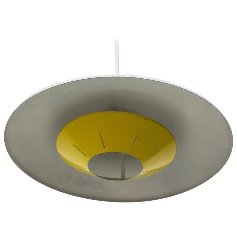 Ceiling Lights Yellow : Louis kalff sunshine yellow ceiling sconce for sale at stdibs