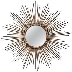 Chaty of Vallauris Oxidized Sunburst Mirror