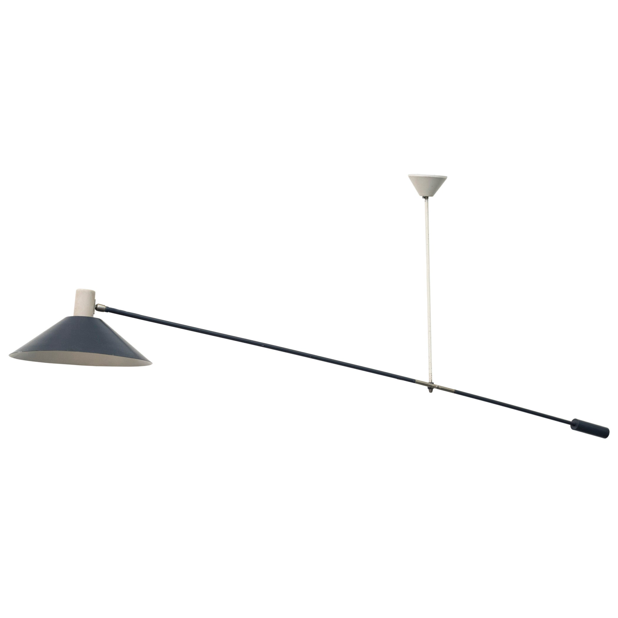 Rare Anvia Ceiling Mount Counter Balance Industrial Lamp