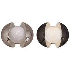 Pair of Chrome Wall Lights