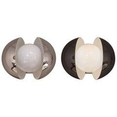 Paar Wandlampen Chrom