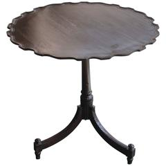 Rare 18th Century Anglo-Indian Piecrust Tea Table Made in India for the British