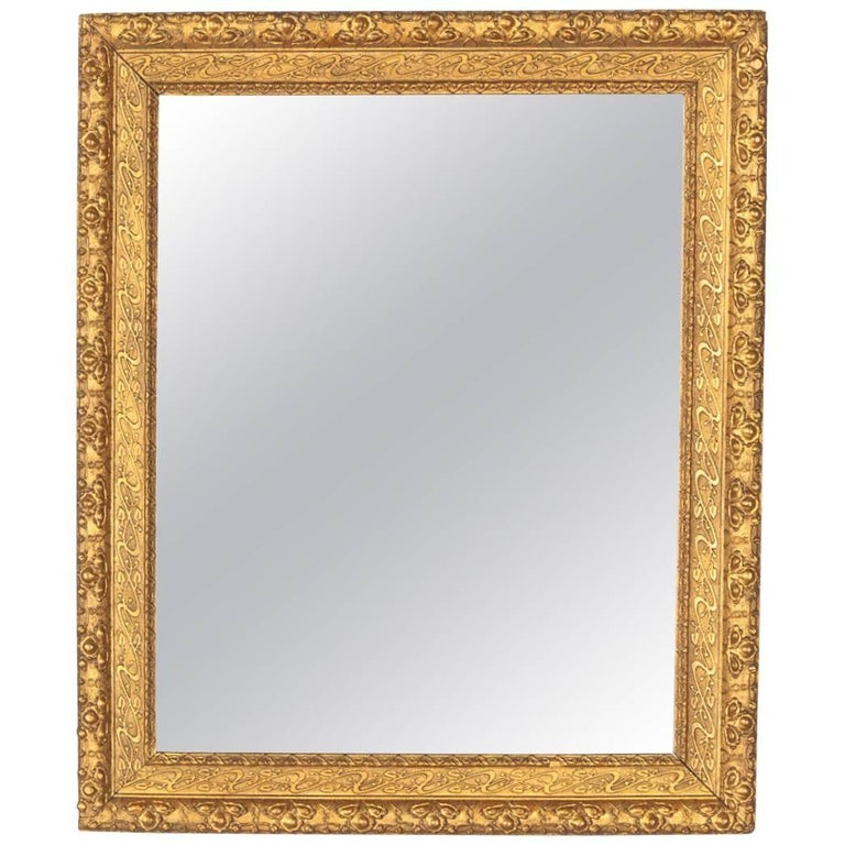 French Napoleon III Giltwood Mirror, circa 1870s For Sale