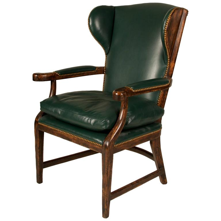 20th Century English Country House Wingback Chair For Sale