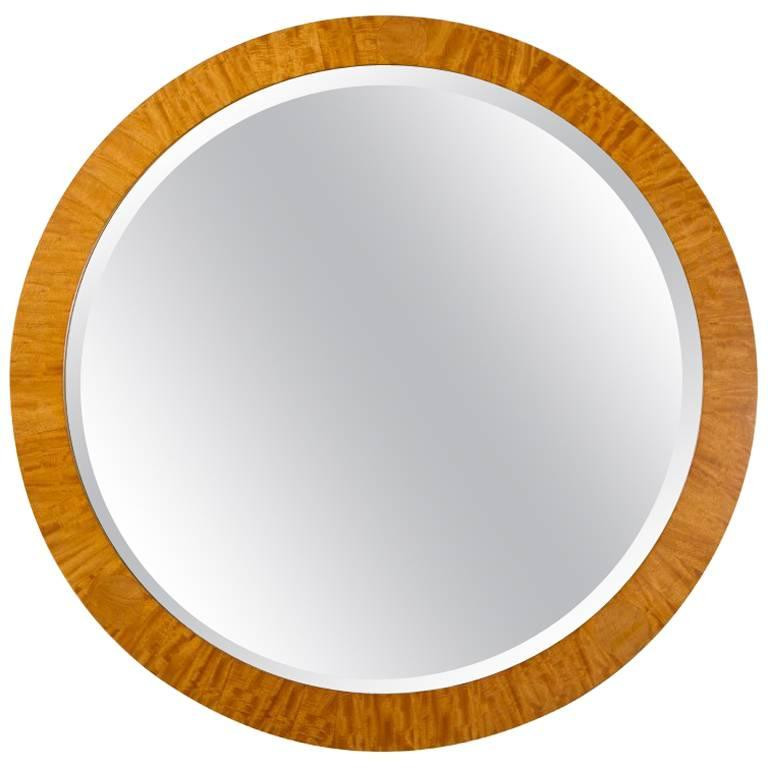 PostModern Prima Vera Inlay Mirror by Charles Pfister for Baker Furniture Co.