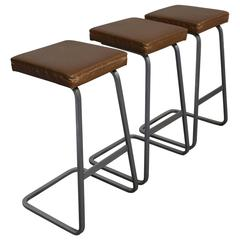 Bar Stools by Ludwig Mies van der Rohe for Knoll