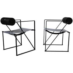 Pair of Seconda 602 Armchairs by Architect Mario Botta