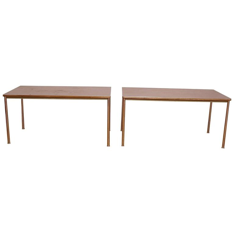 Original Embru Le Corbusier Pair Of Tables Or Desks 1930s At 1stdibs