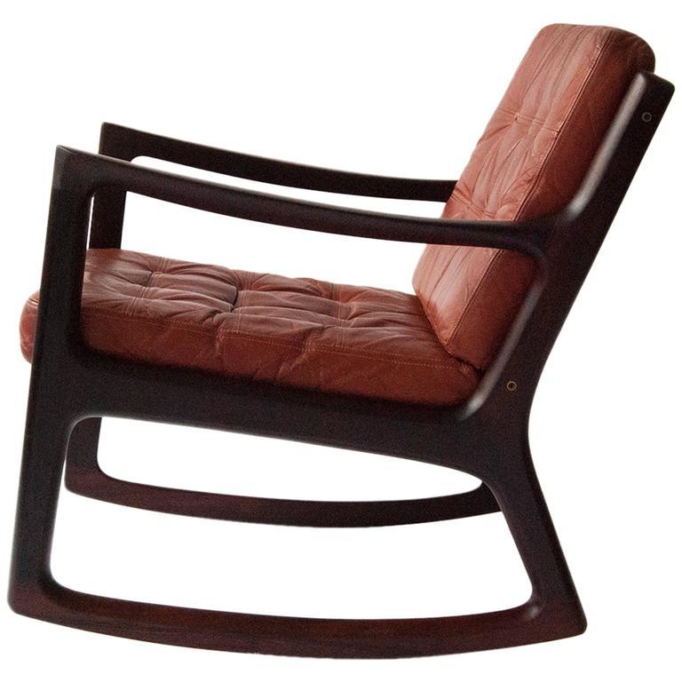 Ole Wanscher Senator Rosewood Rocking Chair Circa 1960