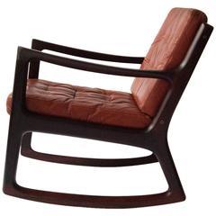 Ole Wanscher 'Senator' Rosewood Rocking Chair, circa 1960