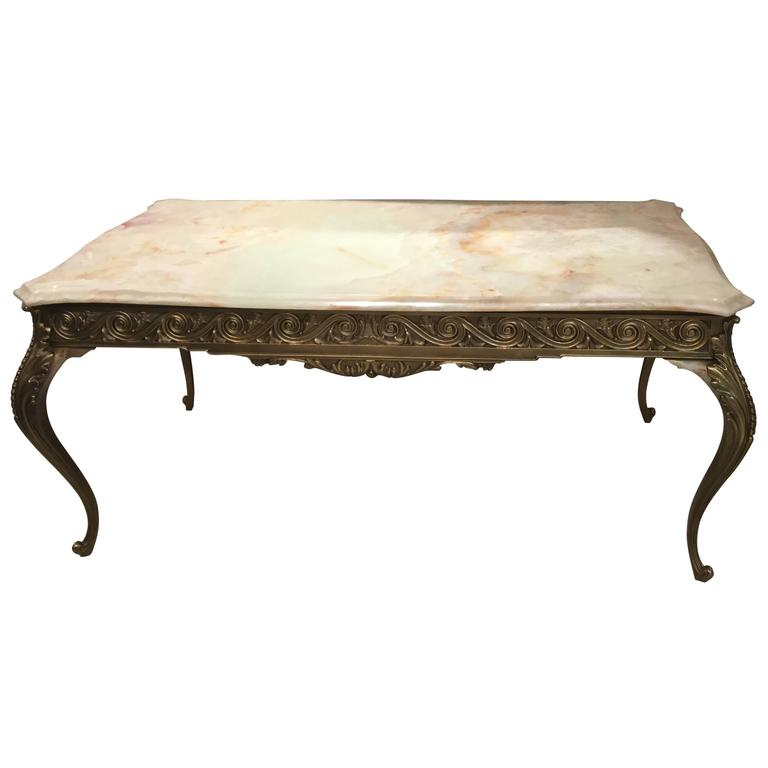 1950, Italian Coffee Table in Bronze