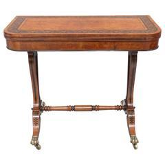 Regency Burr Oak Card Table