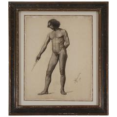 Male Nude Drawing, 1905