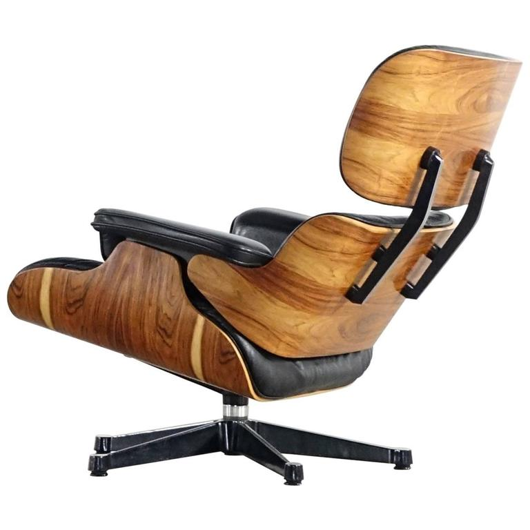 charles and ray eames lounge chair rosewood by vitra. Black Bedroom Furniture Sets. Home Design Ideas