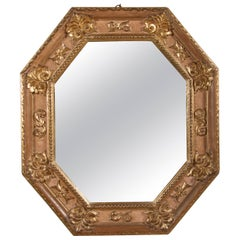 Handsome Italian Giltwood Octagonal Mirror
