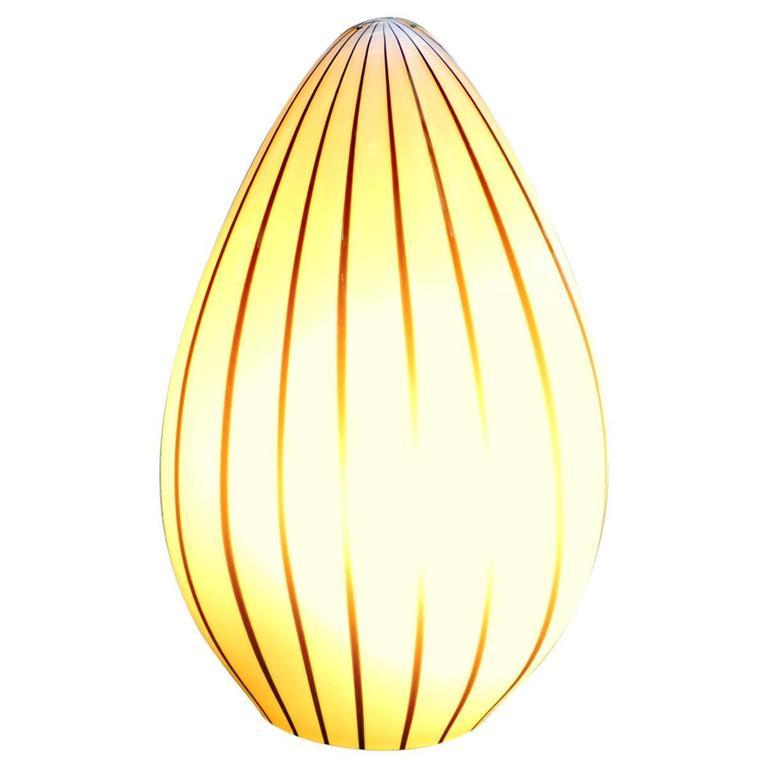 Murano Glass Egg Lamp by Vetri