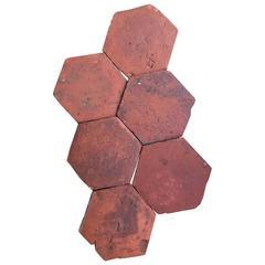 Original French Antique Hexagon Terracotta, 18th Century