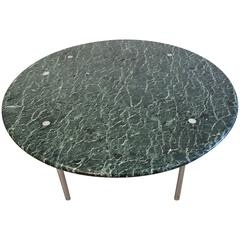 Stunning Tinos Green Marble Dining Table by Estelle and Erwin Laverne, USA, 1950