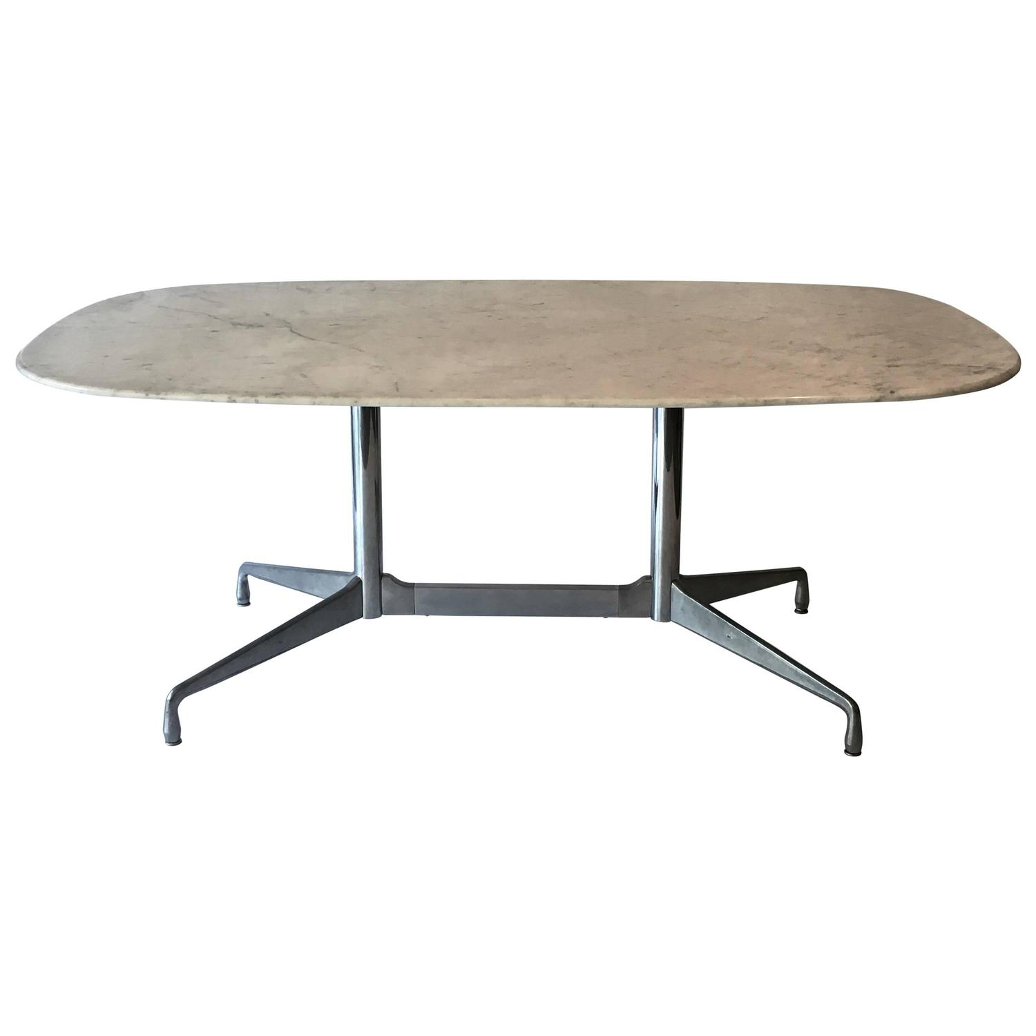 eames for herman miller white marble dining conference table at 1stdibs