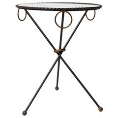 French Vintage Tripod Side Table, circa 1950s
