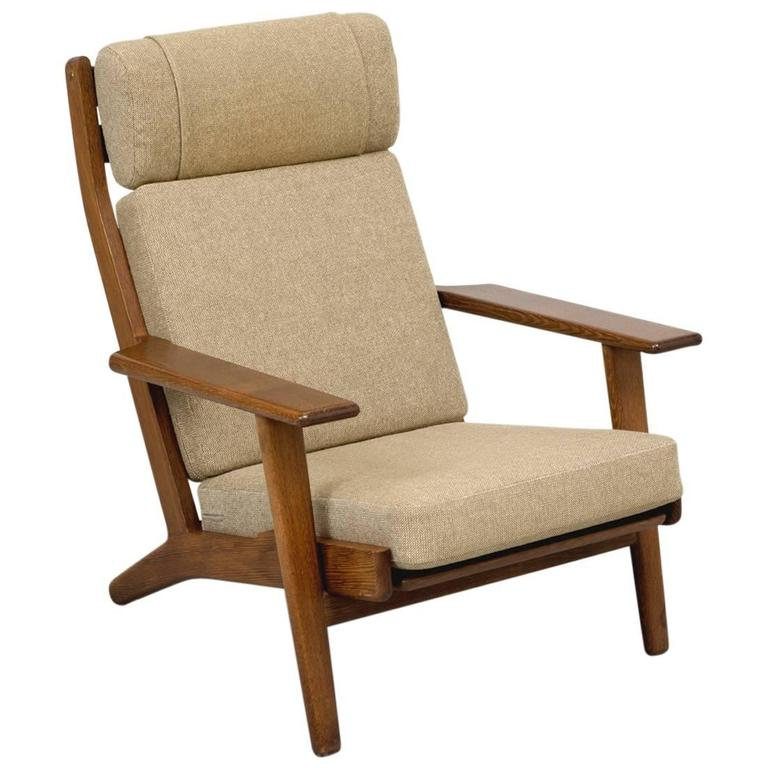 Hans Wegner GE290 High Back Lounge Chair For Sale At 1stdibs