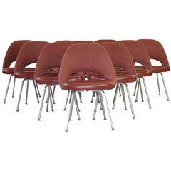 Set of Ten Vintage Eero Saarinen Chairs for Knoll