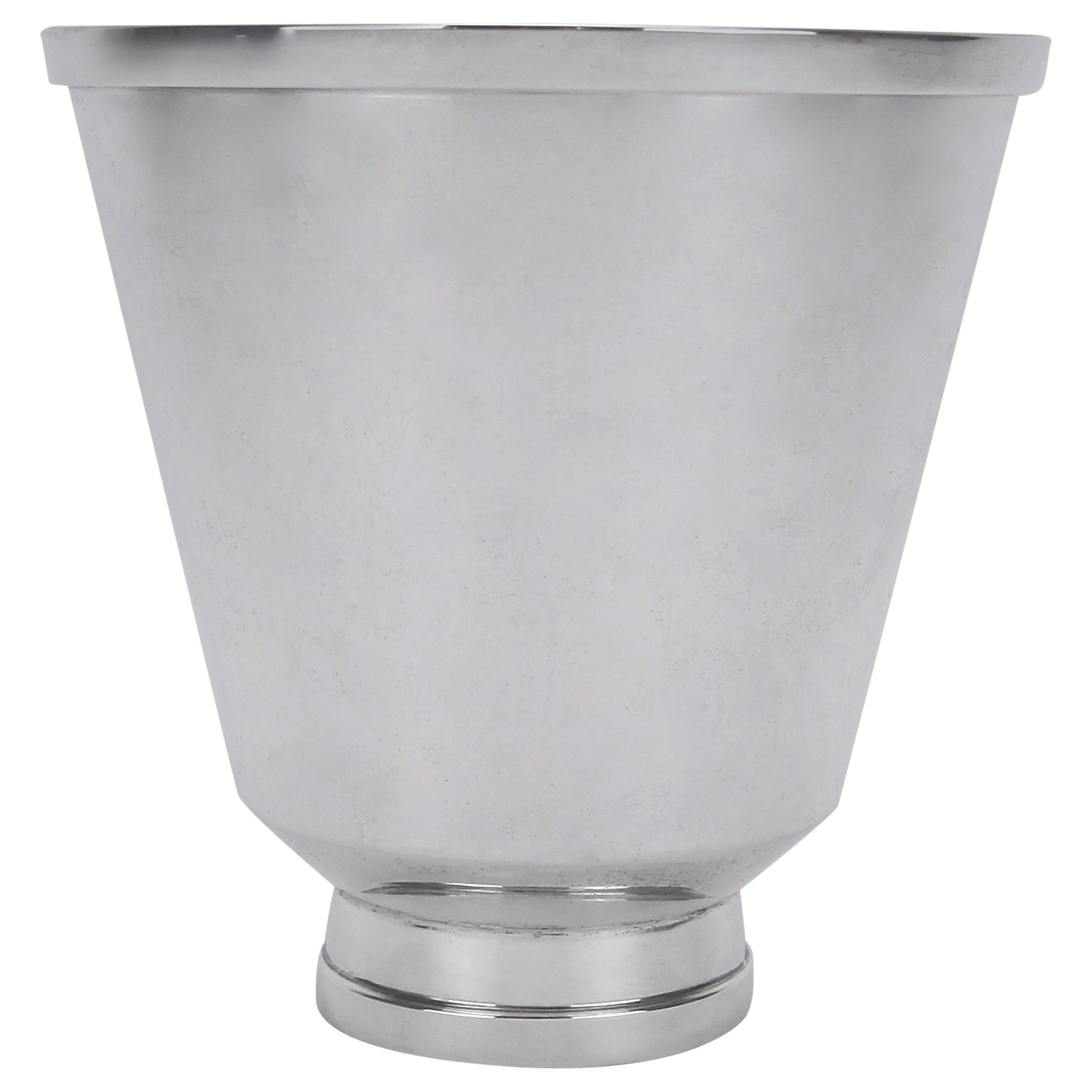 Marie Zimmermann American Sterling Silver Flaring Arts& Crafts Era Vase