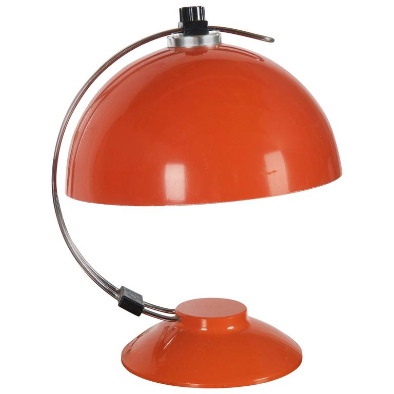 Orange Desk, Table Lamp from the 1970s