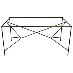 Paul McCobb Iron and Glass Dining Table or Desk