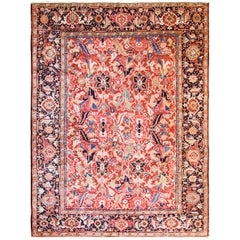 "Antique Persian  Dragon Heriz/Serapi Carpet, 7'7"" x 10'."
