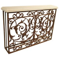 Antique Balcony Gate Console from France, 19th Century