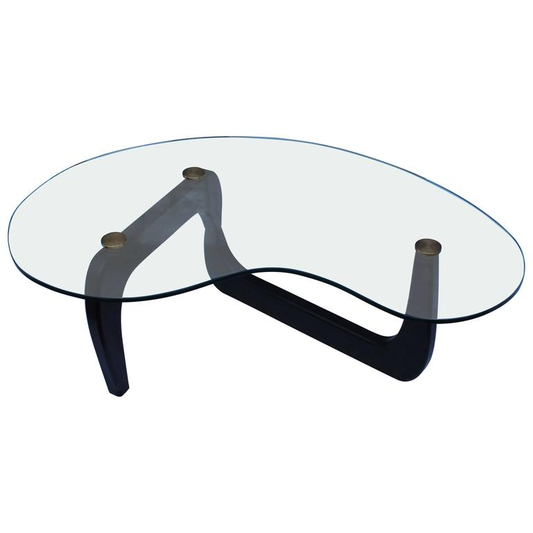 1950 S Isamu Noguchi Style Kidney Shape Coffee Table For