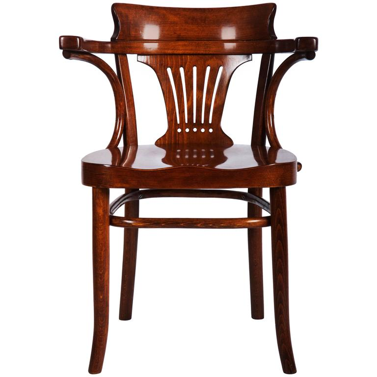 Beautiful Vienna Secession Thonet Armchair For Sale