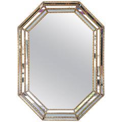 Vintage Gilded Italian Carved Wood Mirror