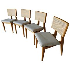 Set of 4 Cane-Back Side Chairs by George Nelson for Herman Miller