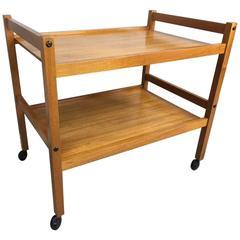 Danish Teak Two-Tier Bar Cart