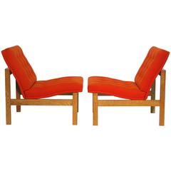 Pair of Easy Chairs by Ole Gjerløv-Knudsen and Torben Lind for France and Son