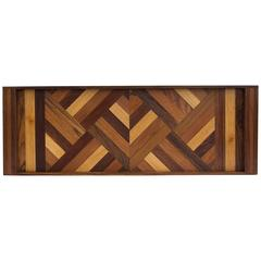 Don Shoemaker Serving Tray with Wood Inlay