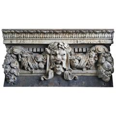 Cast Iron Bacchus Head Architectural Crown, Warren & Wetmore N.Y.C.