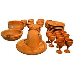 Vintage 46 Pieces Italian Sycamore Tableware by Pietro Manzoni for Vietri