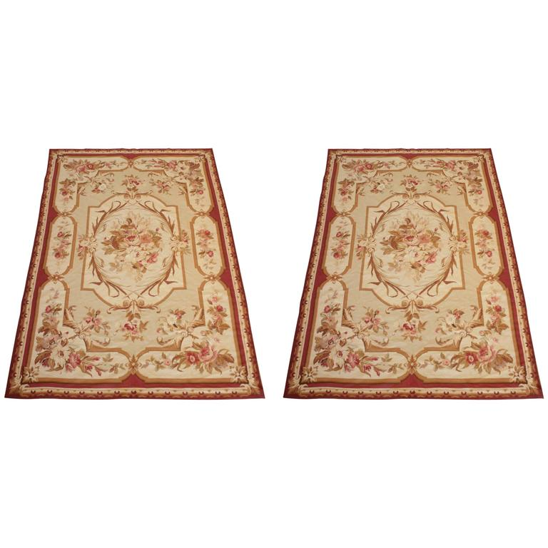 Pair Of Classic Aubusson Rugs For Sale At 1stdibs