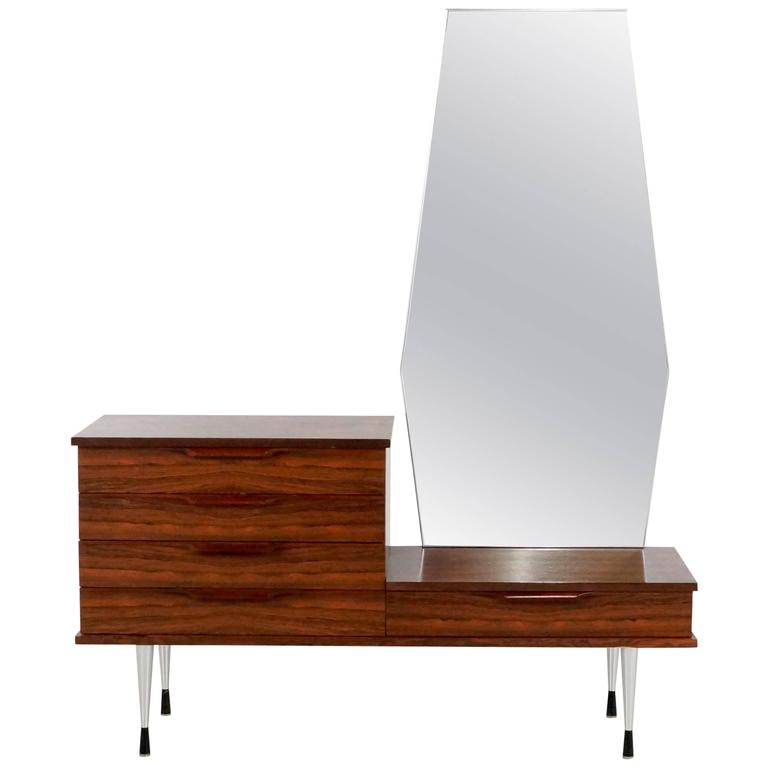 1960s Rosewood Vanity Dressing Table For Sale
