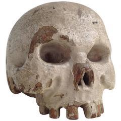 Wooden Skull, 18th Century