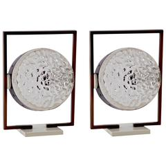 Italian Pair of Table Lamp by Stilux