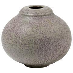 Elegant Stoneware Vase by Daniel de Montmollin, circa 2000-2010