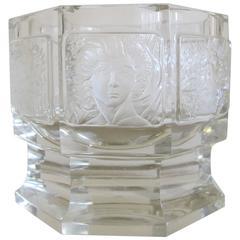 Top Quality, Very Rare, Glass Goblet by J.L. Lobmeyr, Dagobert Peche, Max Rhader