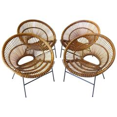 Four Lounge Chairs Attributed to Janine Abraham & Dirk Jan Rol, France, 1960s