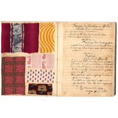 """Two Mid-19th Century Fabric Swatch Books"" Books"