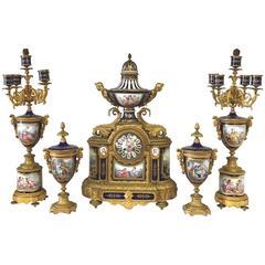 19. Jahrhundert Sevres Uhrset